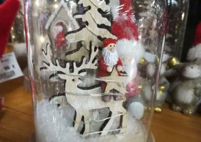 Père Noël sous cloche lumineux - Décoration de Noël à la jardinerie Pradel Horticulture