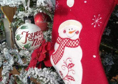 Chaussette pour Noël Merry Christmas en vente à la jardinerie Pradel Horticulture à Luchon